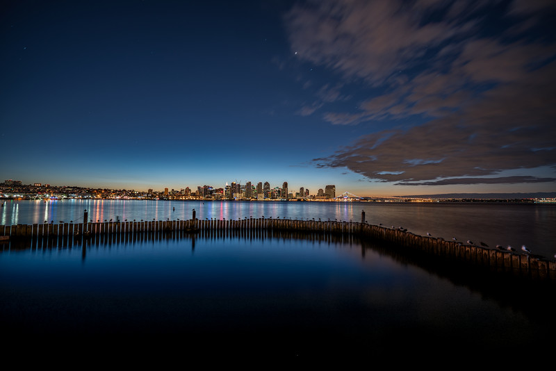 Wide San Diego Skyline