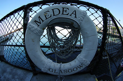 The steam powered motor yacht Medea.