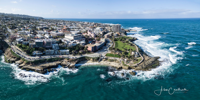 La Jolla Cove aerial panoramic