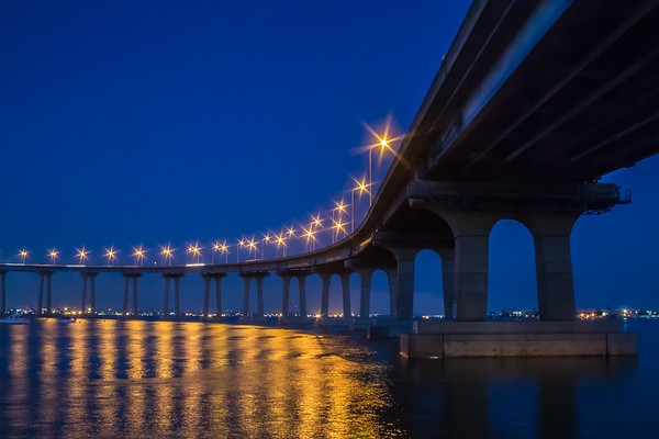 Coronado Bridge in Blue