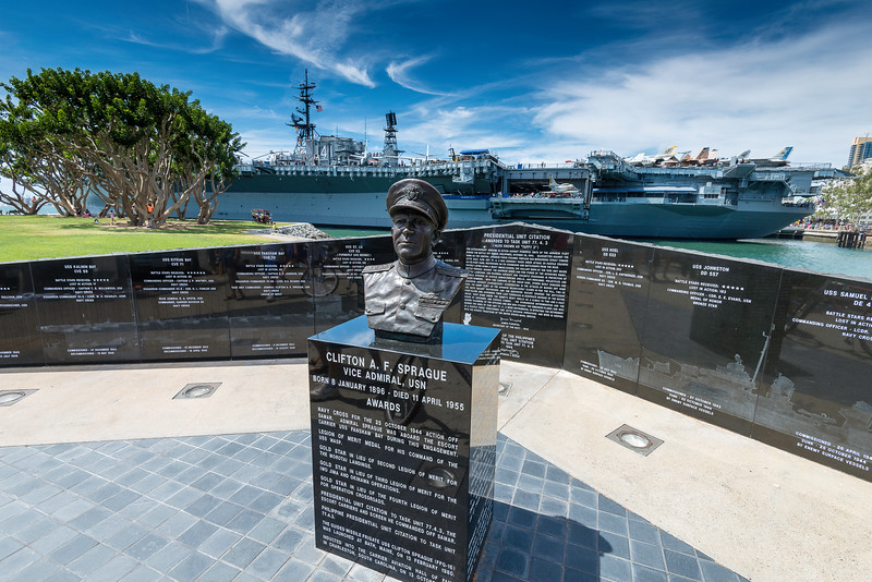 Statue of Admiral Sprague, U.S. Navy