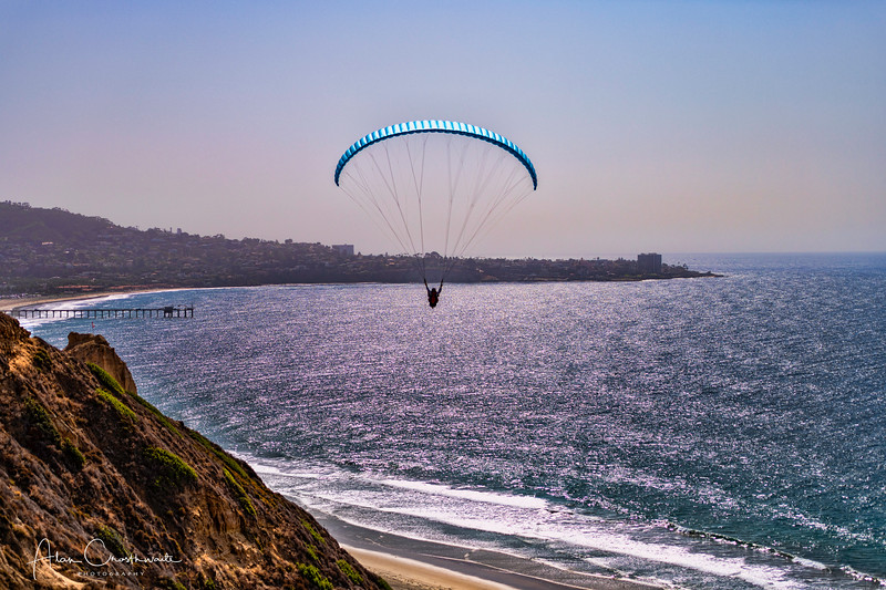 Paraglider in Torrey Pines