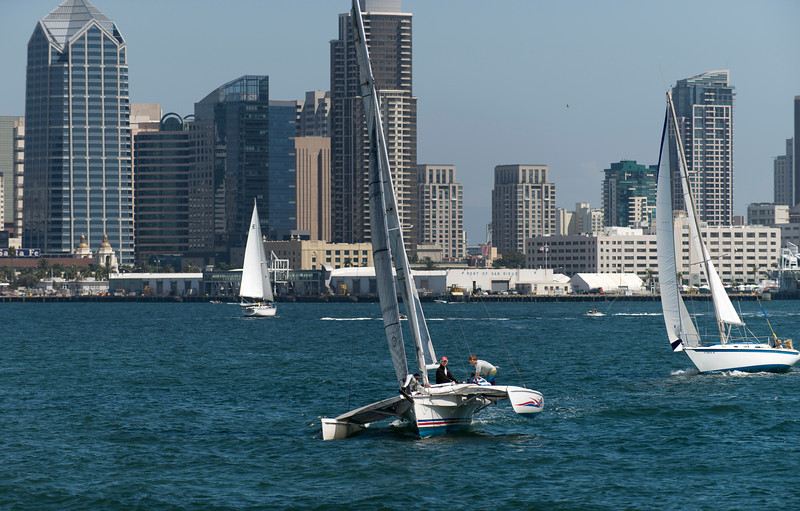 Sailing in San Diego Bay