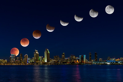 Super Moon Eclipse over San Diego