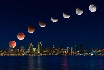 Super Moon Eclipse over San Diego