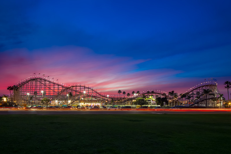 Belmont Park at Sunset