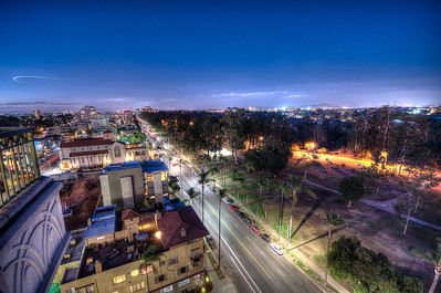 6th Ave & Balboa Park in San Diego at Night