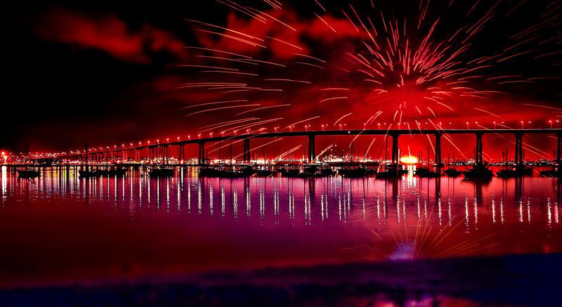 Fireworks over Coronado