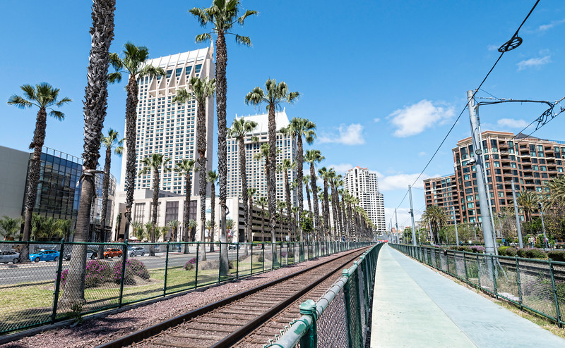 Railways downtown San Diego, California,