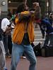 Street dancing.<br /> <br /> Halladie Plaza, San Francisco.