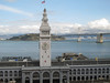 Ferry Building and Bay Bridge.<br /> <br /> San Francisco.