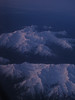 Olympic mountains as seen at sunrise from 26,000', aboard N412SW.