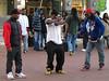 Street dancing, Hallidie Plaza, San Francisco.