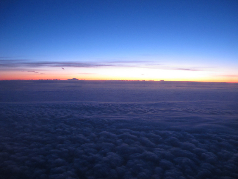 Sunrise at 23,000' southbound, aboard N412SW.