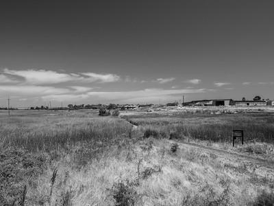 Antioch Bridge (left). Dow Wetlands Preserve. Antioch, CA, USA