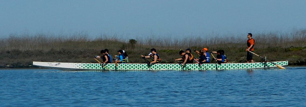 california; corkscrew slough; people; redwood city The row team did laps in the waters near the docks.