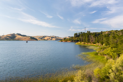Briones Reservoir. Oursan Trail - East Bay MUD Park at Briones Overlook Staging Area - Orinda, CA, USA