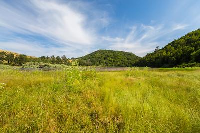 Upper San Leandro Reservoir. East Bay MUD Park at Valle Vista Staging Area - Moraga, CA, USA