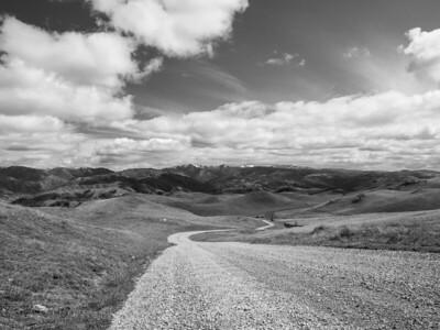 Mt. Hamilton (in the distance on the right). Bay Area Ridge Trail. Mission Peak Regional Preserve. Fremont, CA, USA