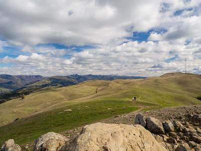 Mt. Hamilton (slightly right of center) & Mt. Allison (right). Peak Trail. Mission Peak Regional Preserve. Fremont, CA, USA