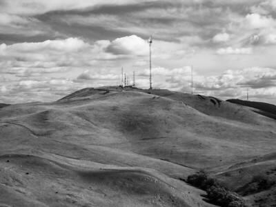 Mt. Allison (center) & Monument Peak (right). Peak Trail. Mission Peak Regional Preserve. Fremont, CA, USA