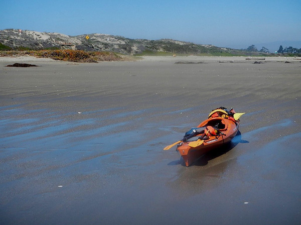 california; elkhorn slough; monterey An inlet provided us a lunch spot just before heading fo rhte ocean.