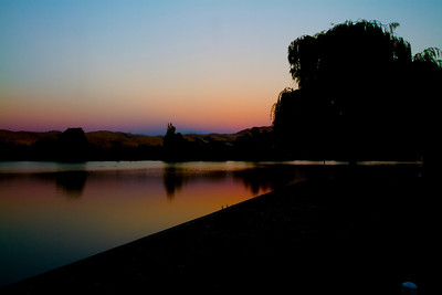 Sunset. Lake Elizabeth/Fremont Central Park - Fremont, CA, USA