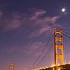 Golden Gate Bridge by night from Fort Baker - San Francisco