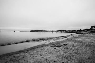 Beach. Shot toward Pillar Point.  Shot near Sam's Chowder House - Half Moon Bay, CA, USA