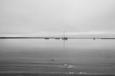 Boats.   Shot near Sam's Chowder House - Half Moon Bay, CA, USA