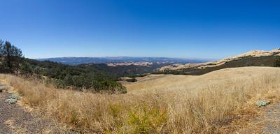 Panorama. Mount Diablo State Park - California, USA