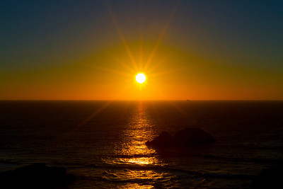 Sunset. Sutro Baths - San Francisco, CA, USA