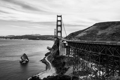 Golden Gate Bridge. Golden Gate Bridge Vista Point - Sausalito, CA