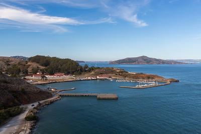 Horseshoe Bay. Golden Gate Bridge Vista Point - Sausalito, CA