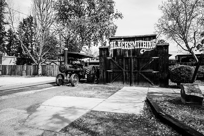 Blacksmith Shop. History Park at Kelley Park - San Jose, CA, USA