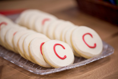 Cookies are served at Chico State's Alumni Day at Salesforce West on Thursday, May 10, 2018 in San Francisco, Calif. (Jessica Bartlett /University Photographer/CSU Chico)