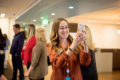 Kaitlin Ferguson enjoys Chico State's Alumni Day at Salesforce West on Thursday, May 10, 2018 in San Francisco, Calif. (Jessica Bartlett /University Photographer/CSU Chico)