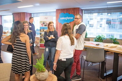 Alumni enjoy Chico State's Alumni Day at Salesforce West on Thursday, May 10, 2018 in San Francisco, Calif. (Jessica Bartlett /University Photographer/CSU Chico)