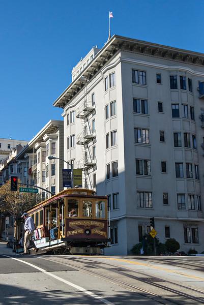 Cable Car, California and Stockton
