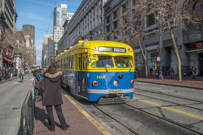 San Francisco Municipal Railway Historic Streetcar No. 1010