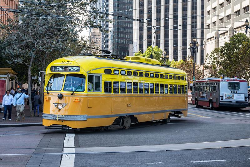 Los Angeles Railway Historical Streetcar No. 1052