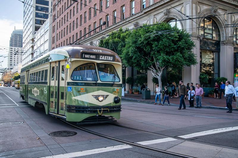 San Diego, California Historical Streetcar No. 1078