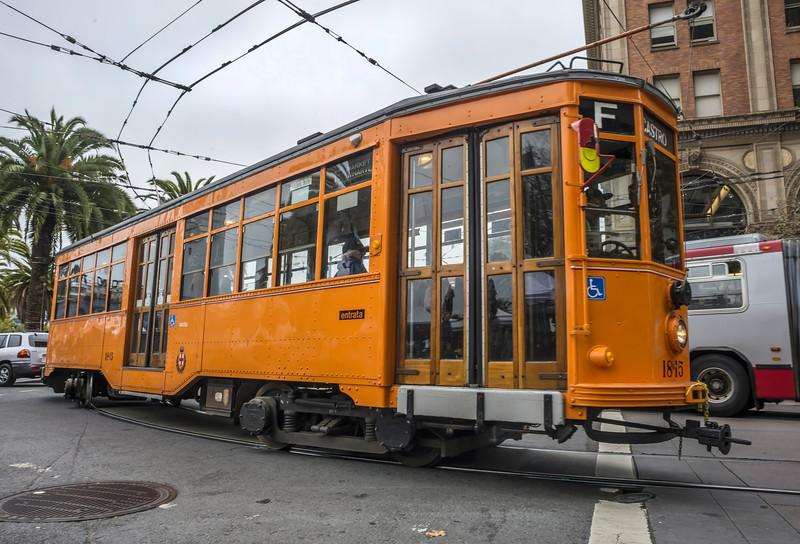 Milan, Italy Historic Streetcar No. 1815