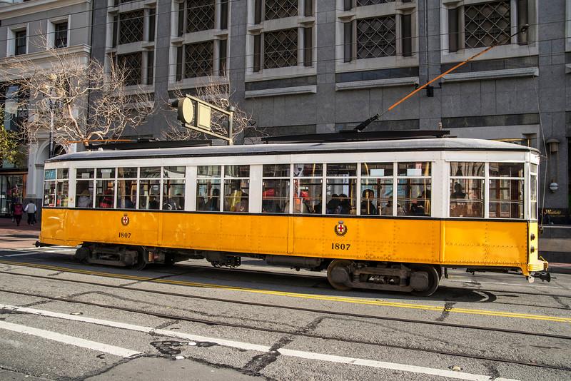 Milan, Italy Historic Streetcar No. 1807