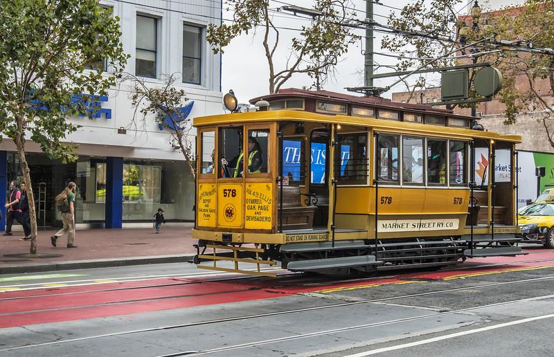 Market Street Railway Company Historic Streetcar No. 578