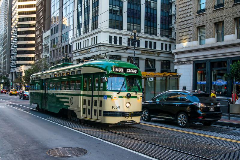 San Francisco Municipal Railway Historic Streetcar No.  1050