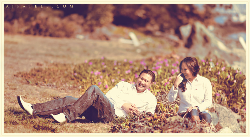 San Francisco Engagement Portrait by AJ Patell - Jay-R and Riza