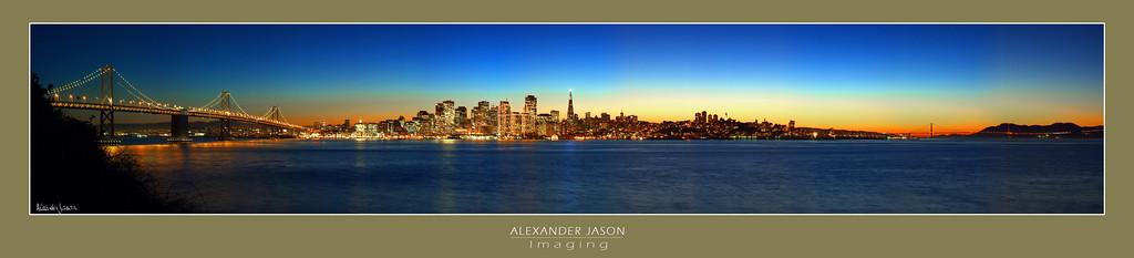 San Francisco Bay: From Bridge to Bridge at Twilight
