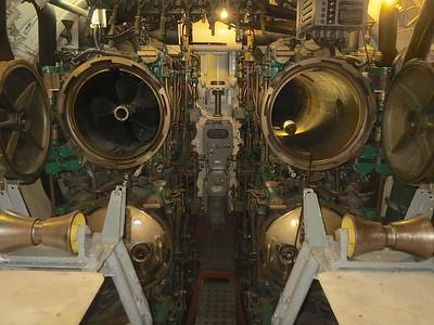 The forward torpedo room.