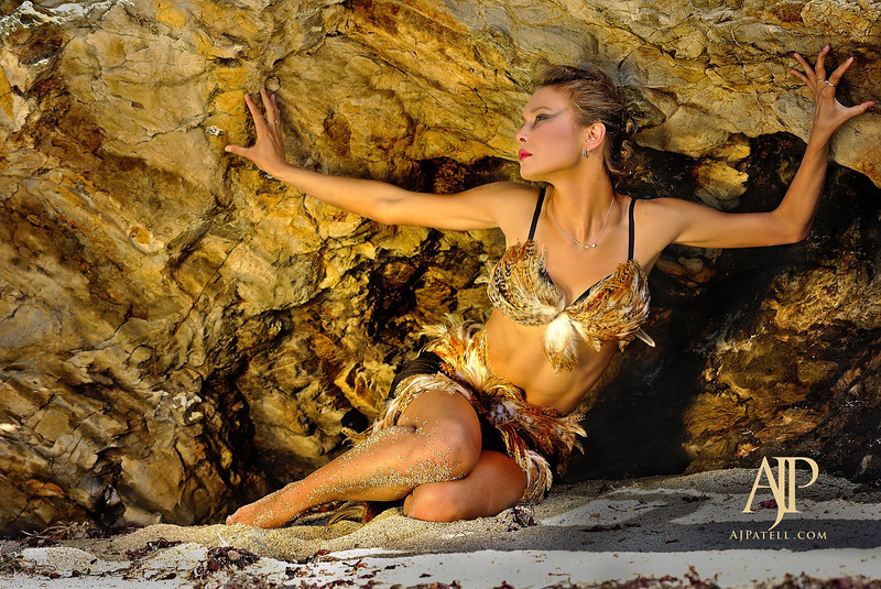 AJ Patell's beach photoshoot with Lisa and Rusalka SF